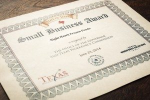 Quality Frozen Foods, Small Business Award