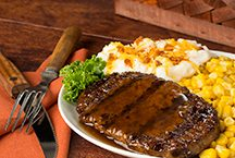 image of Beef 'n Mashed Potatoes meal with corn