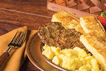image of Breakfast Sausage with French Toast Sticks 'N Scrambled Eggs